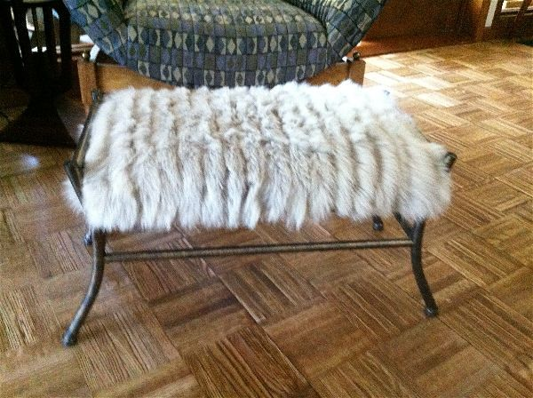 furry footstool