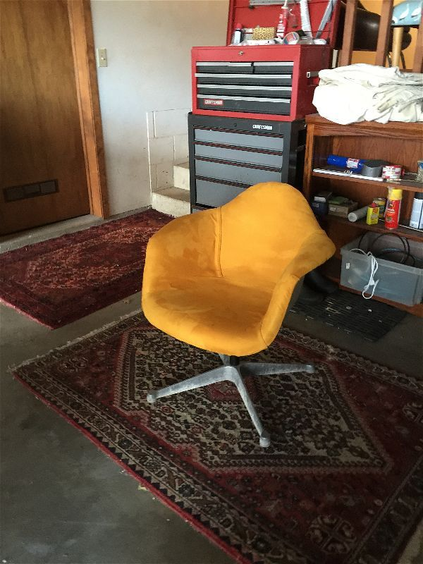 Eames chair in Knoll ultrasuede
